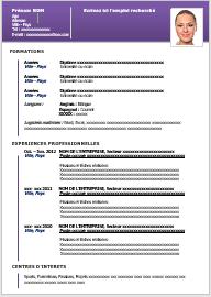 Exemple de CV moderne – Modèle 1