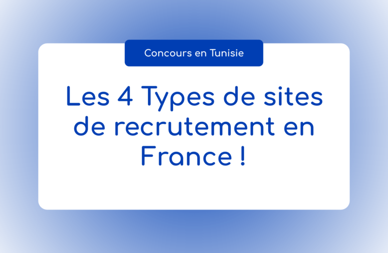 Les 4 Types de sites de recrutement en France !